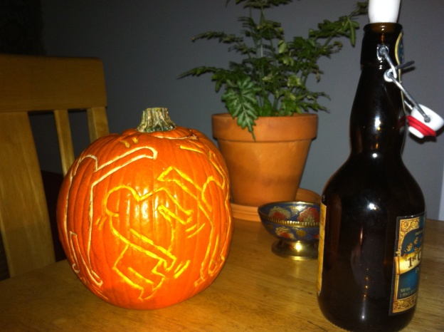 keith-haring-carved-pumpkin