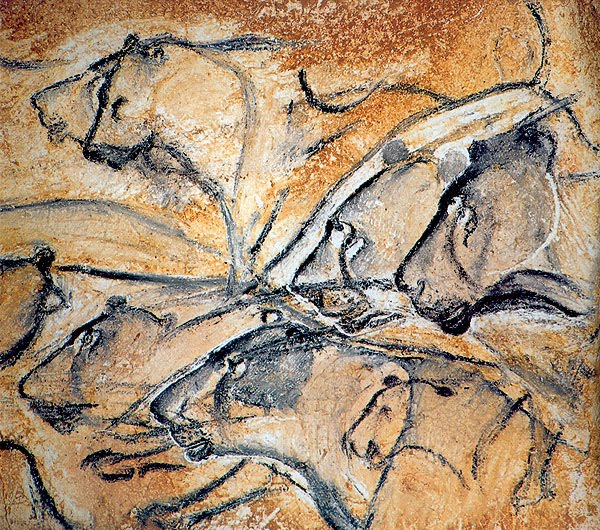 Paleolithic cave drawing, Chauvet Cave. Werner Herzog, Cave of Forgotten Dreams.
